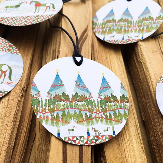 Those cutie Inky Pony gift tags. Check them out at PonyInk.com 🎄 #PonyInk #Christmas #pony #christmastree