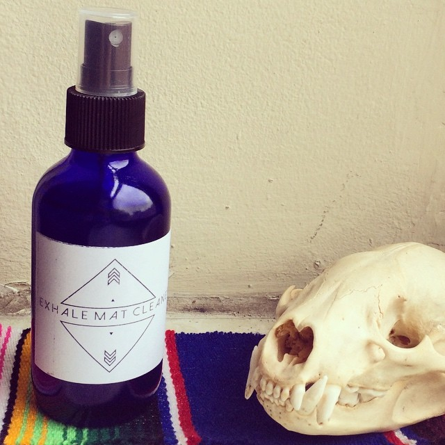 Both the INHALE and the EXHALE Organic may cleaner are up in the shop. 2 different scents to fit your practice! The EXHALE featured here is a relaxing mist of lavender, lemon, Rosemary, and sage. The ingredients even gentle enough for your skin! So take a deep breath and check it!  Link in bio . . . #namastebitches #yoga #matcleaner #spray #mist #allthegoodsmells #exhale