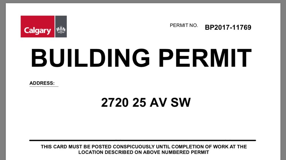 - Permits Received - City has issued the full building permit as of September 22nd.  This gives us the complete go ahead to start building.  Demolition is booked for Monday September 25th.  Expect updates here.