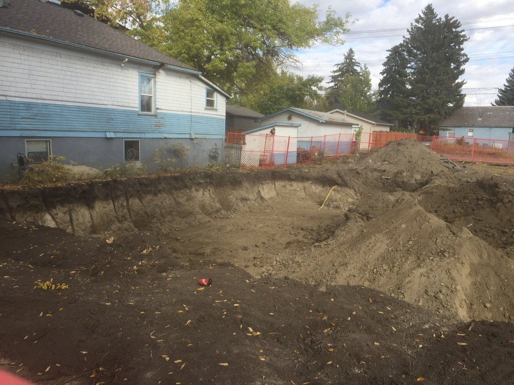 - Excavation Underway - We've had some slight scheduling troubles, but the dig should be done by the end of the week.  Footings and form work will follow soon next week.