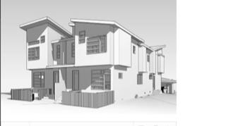 Fourplex under construction 2018 - copied design work.