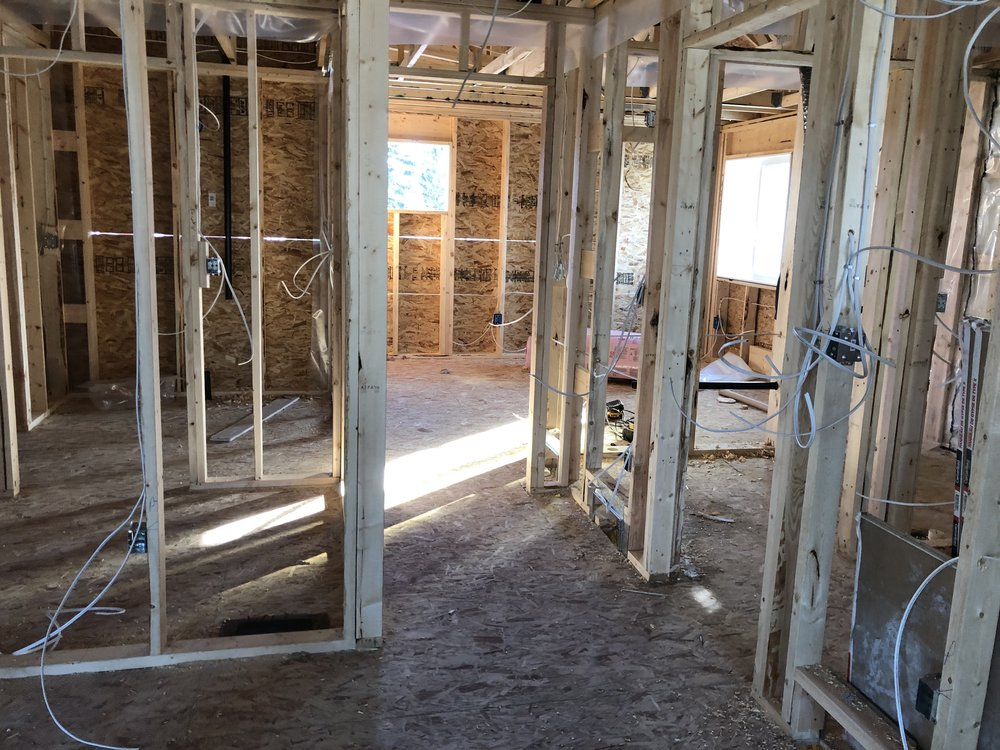 - Rowhouse wiring - the electricians came by and put in a full day to start wiring the upstairs level of the project.  We are not quite done the plumbing, framing, gas or mechanical, but there is no reason to not proceed anyway with the wiring.