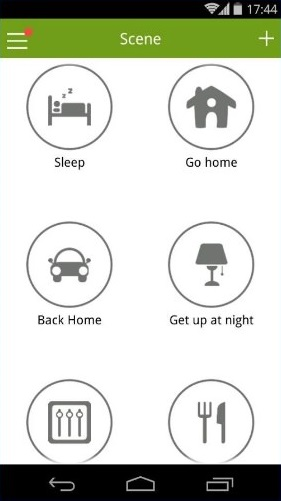 Wulian Smart Home Automation - Android app - Scene page