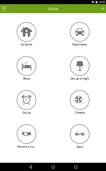 Wulian Smart Home Automation - Android app - Scene2
