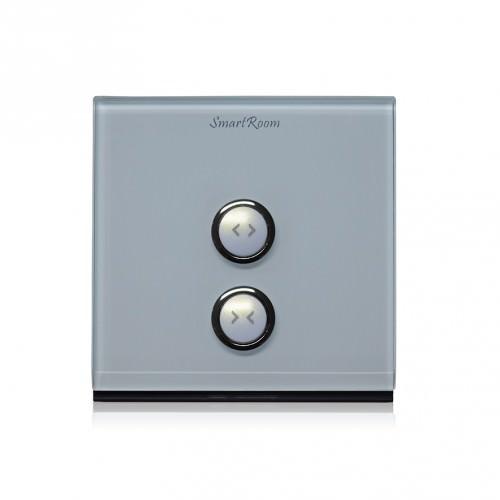 Wulian Smart Curtain Controller(Tempering Glass) - สวิทช์ควบคุมเปิดปิดม่านไฟฟ้าผ่านทางโทรศัพท์มือถือ ใชัญญาณไร้สาย Zigbee จาก Wulian Thailand - Smart Home Automation บ้านอัจฉริยะ
