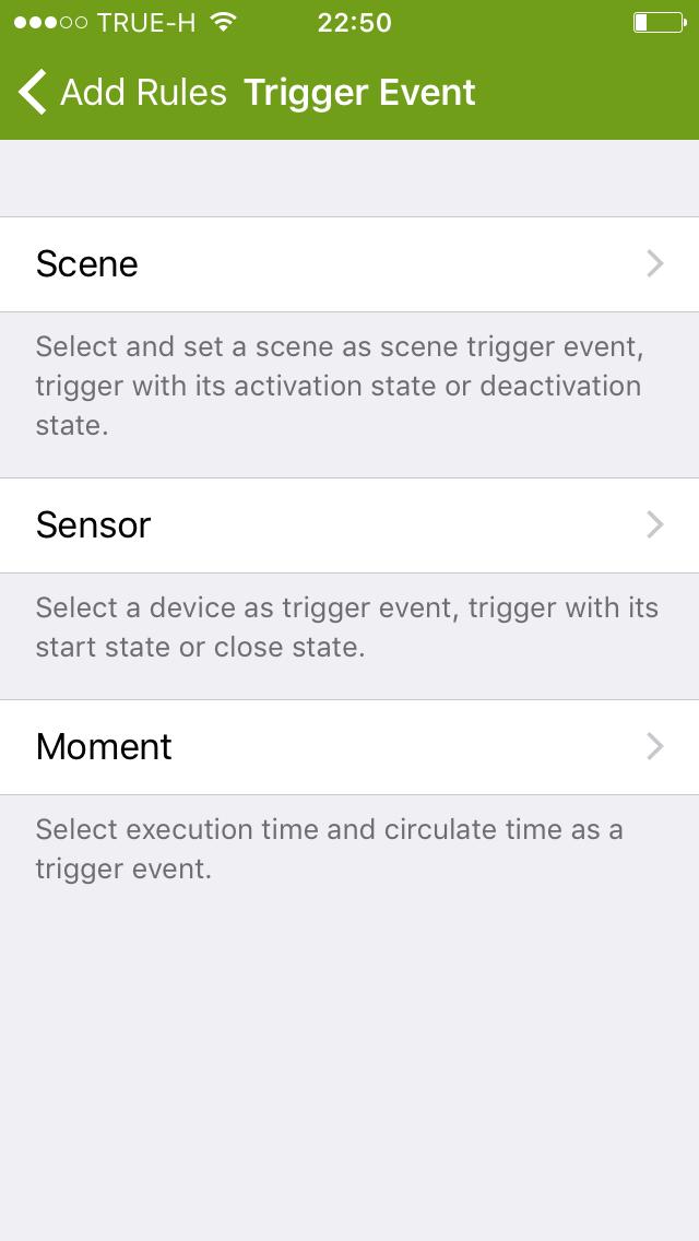 5. ให้เลือก Trigger Event เป็น Moment เพราะในกรณีนี้เราต้องการให้ เวลา เป็นตัวเริ่มต้นในการสั่งเริ่มการทำงานของฟังก์ชั่น