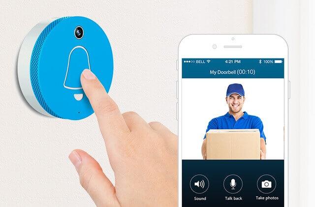 Smart Doorbell - Talkback - cleverdog ปุ่มกดเรียก กริ่งอัจฉริยะ Smart Door Bell กันน้ำ กริ่งเรียกอัจฉริยะ อินเตอร์คอมบนมือถือ
