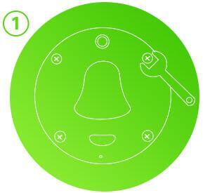 Smart Doorbell - Home automation products - Fix Screws - cleverdog กริ่งกดเรียกอัจฉริยะ Smart Door Bell กันน้ำ กริ่งเรียกอัจฉริยะ อินเตอร์คอมบนมือถือ