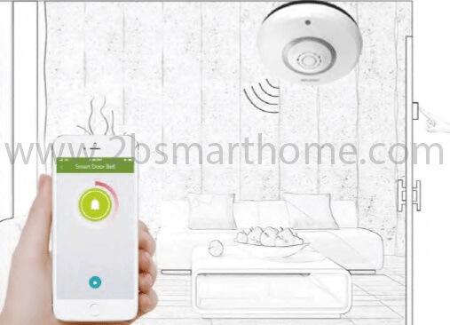 Wulian Smart Door Bell - กริ่งสัญญาณทำงานบนระบบไร้สาย zigbee จาก Wulian Thailand - Smart Home Automation บ้านอัจฉริยะ