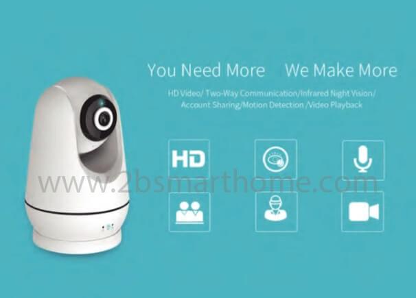 Wulian Smart IP Camera(720P, Pan & Tilt) - กล้อง IP รองรับการใช้งานในระบบ Smart Home ของ Wulian Thailand - Smart Home Automation บ้านอัจฉริยะ