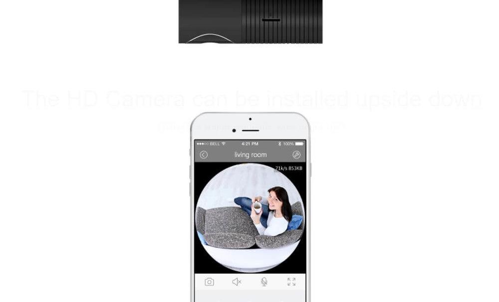 Smart Home Panorama Camera - Upside Down - Wide Angle