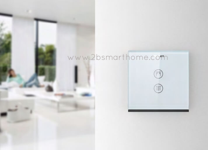Wulian Smart Touch Curtain Controller - สวิทช์ควบคุมการเปิดปิดม่านไฟฟ้าควบคุมผ่านโทรศัพท์มือถือ จาก Wulian Thailand - Smart Home Automation บ้านอัจฉริยะ