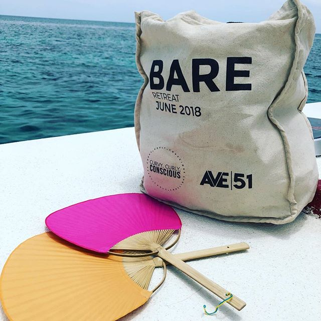 It's been smooth sailing at the #bareretreat with @curvycurlyconscious and @ave.51