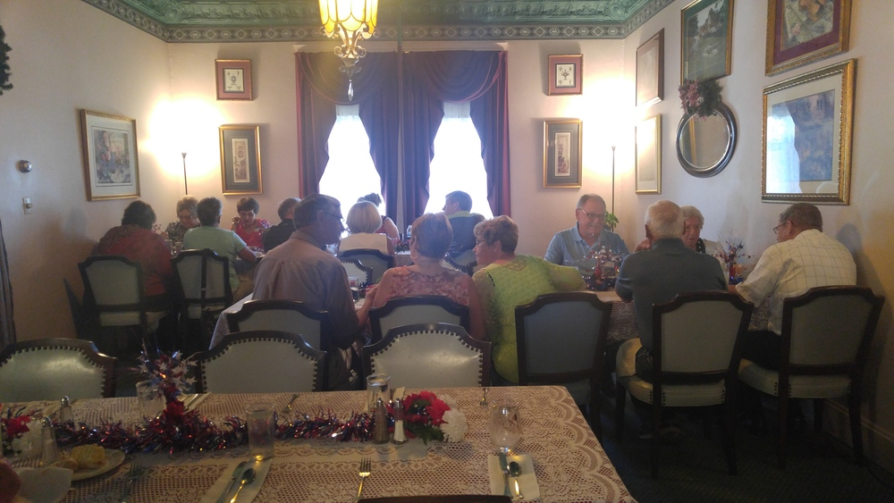 Our guests enjoying their luncheon.