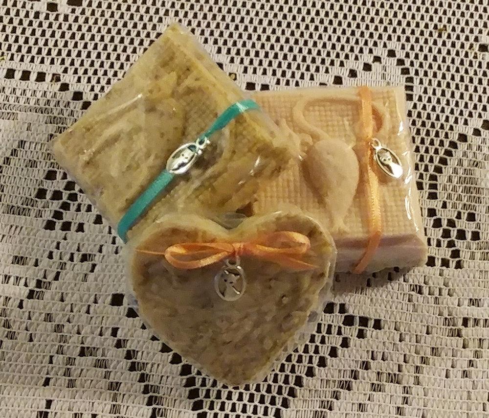 Lrg. Soap: $5.50 - Sm. Soap: $3.50 - Sm. Heart: $1.95