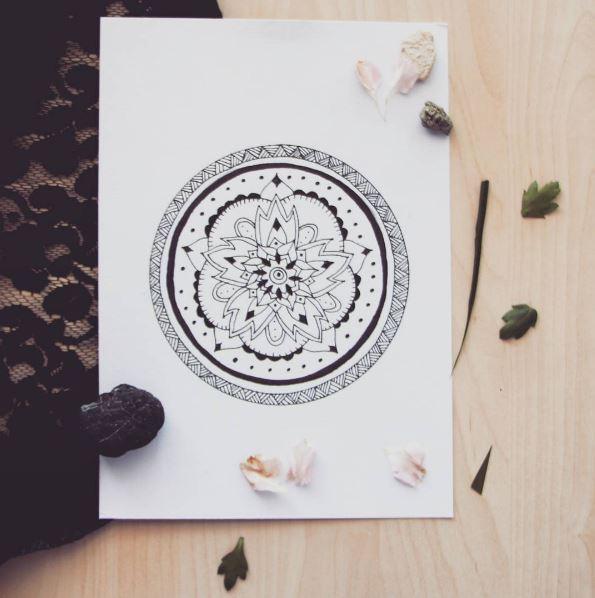 mandala custom tattoo design