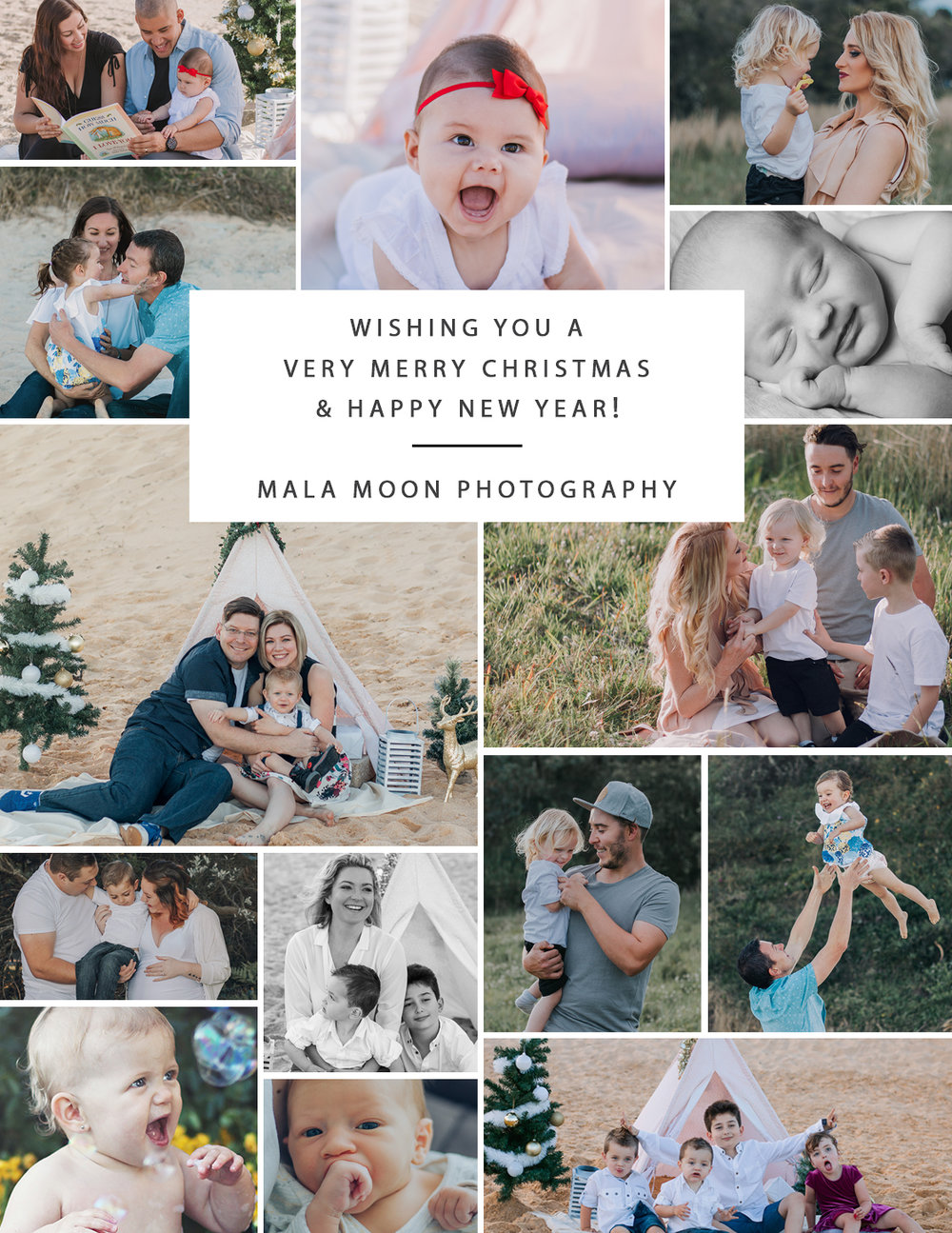 mala moon photography christmas card central coast