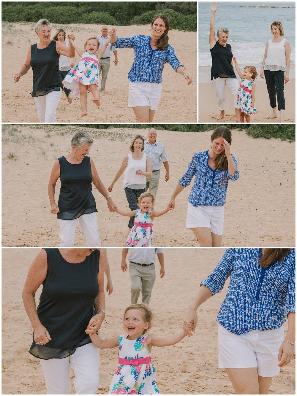 fun family photo central coast