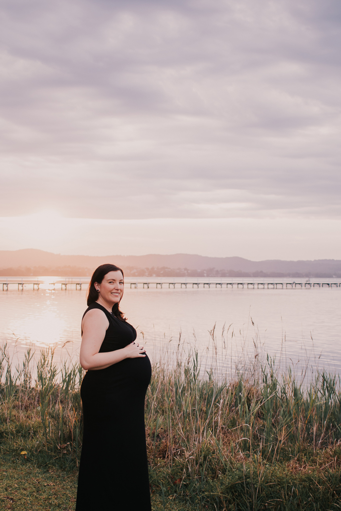 maternity shoot by the sunset