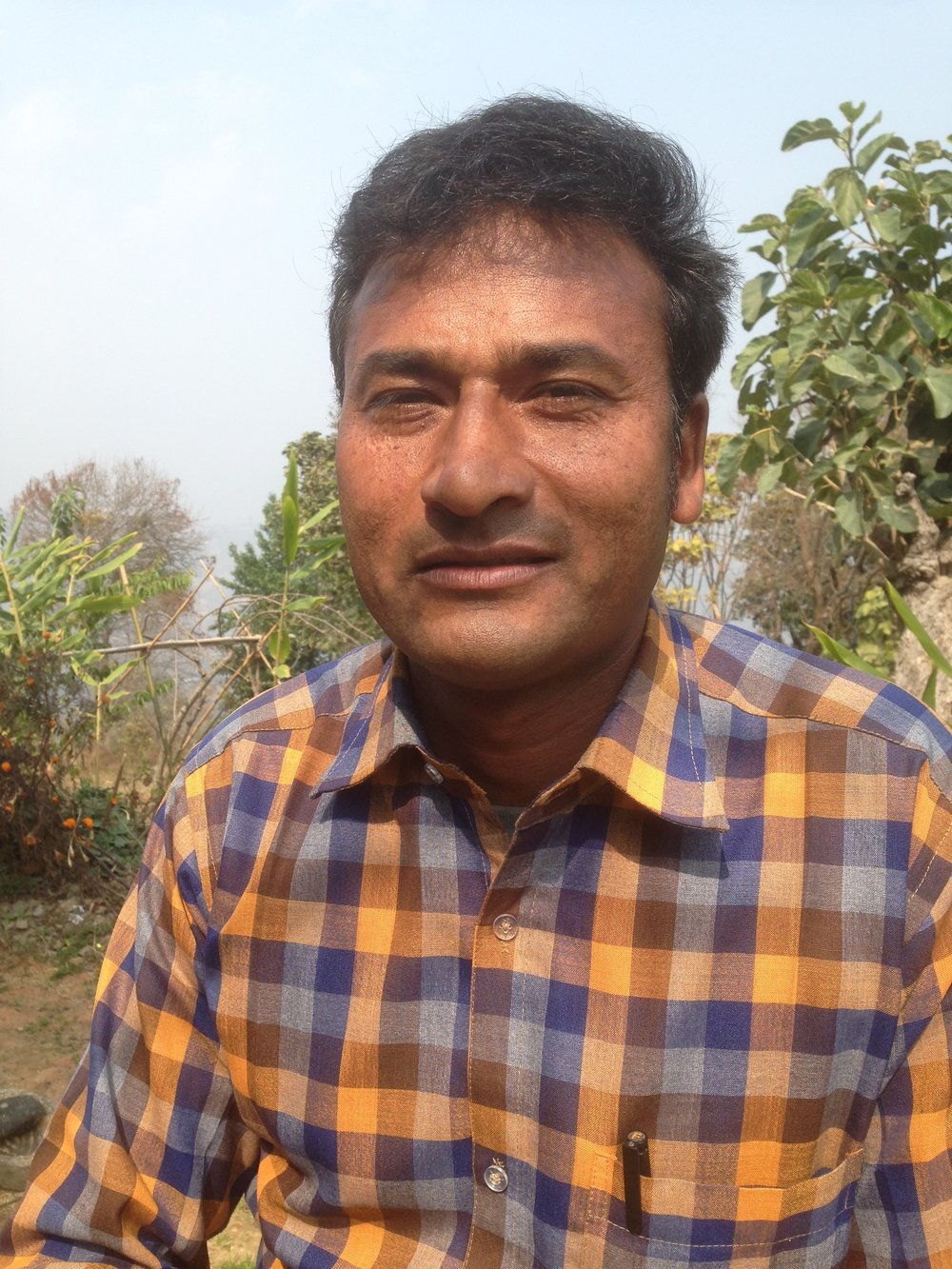 Binod Puri, Supervisor & Co-Trainer - Binod has been with Everything Organic since its inception, about 8 years. He had much prior training & experience in orchard and organic farming prior to working at EVON, including many trainings and a technical degree. He worked for 5 years at Dhulikhel Mountain Resort as an orchard and garden assistant.