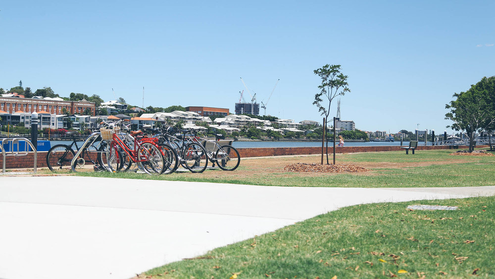 Hardcastle Park sits adjacent to the Brisbane River in Hawthorne and offers a green space with great river views for a day out.