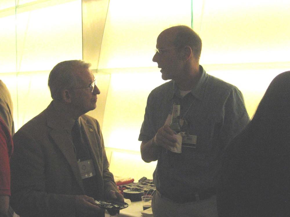 Charles Tipton chatting with Scott Boitano