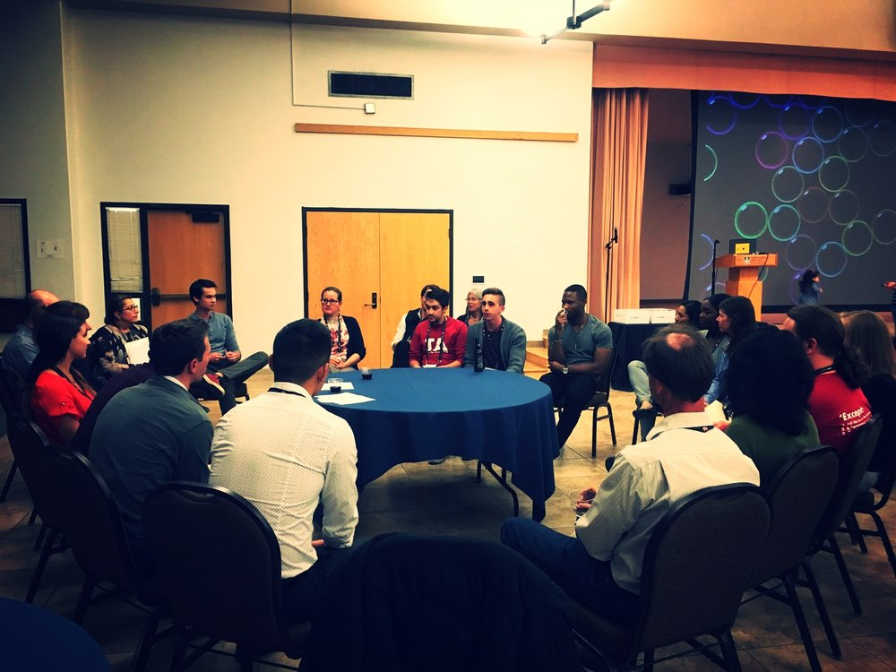 A round table discussion among our members (students and faculty).