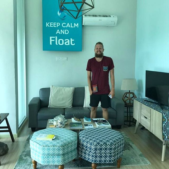 Keep calm and float! It's only Monday! Theis from Denmark floating away those Monday blues and starting his week right! . . . . . . . #floatforhealth #float #keepcalm #andfloat #mondayblues #monday #meditation #conciousness #blue #chill #relax #mentalhealthawareness #stressrelief #spa #rejuvenation #penang #malaysia #georgetown