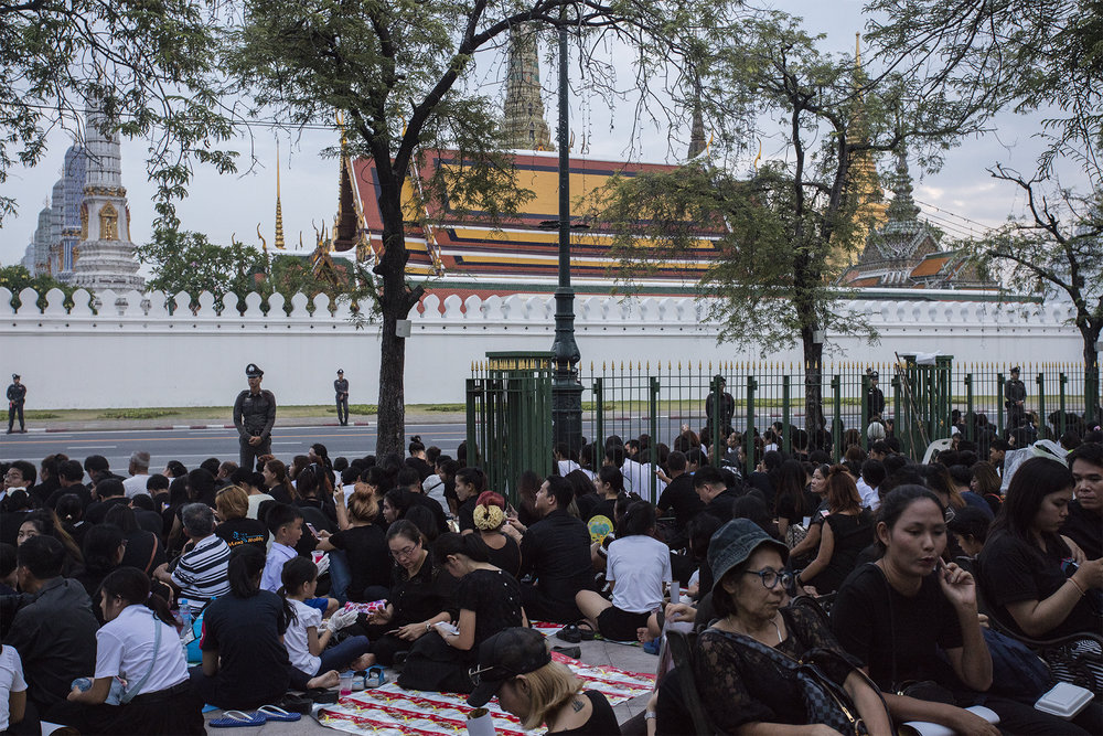 Bangkok mourns for the passing of Thailand's King Rama IX, Bhumibol Adulyadej.