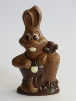 Chocolate rabbit for Easter, made in Hataitai by Bohemein