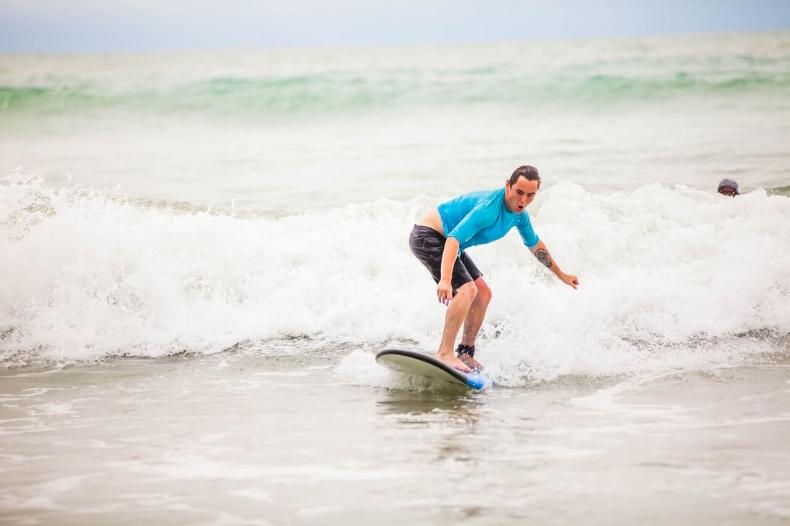 Surfing in Kuta, Bali