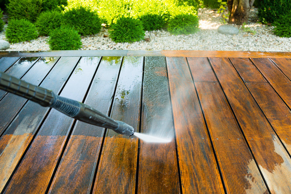 Decking Jetwash Cleaning