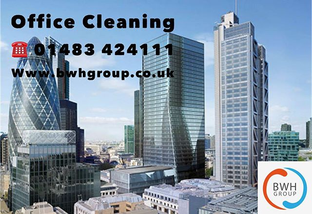 Nothing better than a fresh clean working environment- if your offices are in need a professional office cleaner, give us a call today ☎️01483424111 📧info@bwhgroup.co.uk