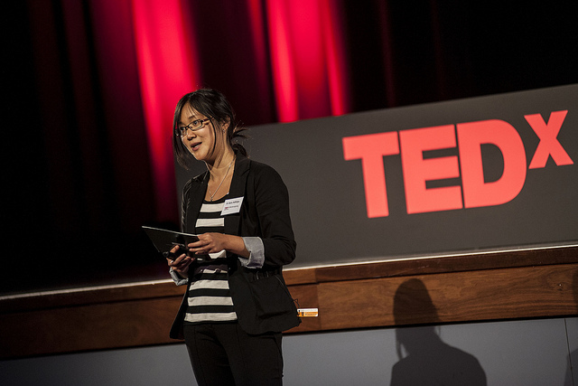 Sara at TEDxWollongong, Australia, October 2013, presenting her work on Musical Cities
