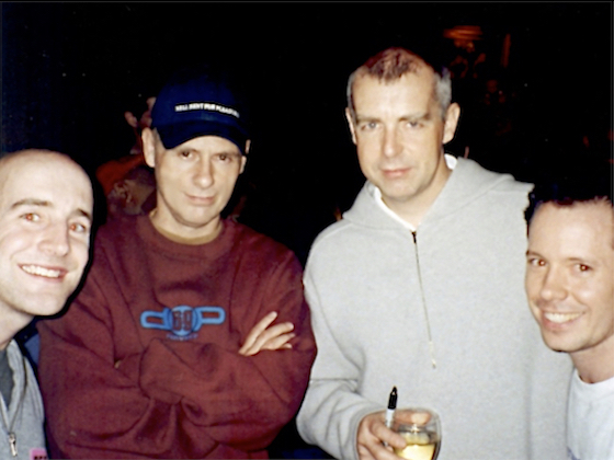 Corey and me with Pet Shop Boys in Atlanta for the Nightlife Tour, 1999.