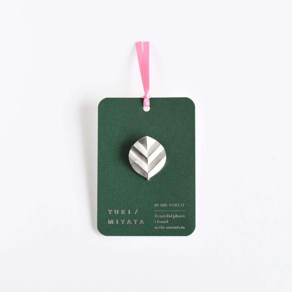 【Brooch】Leaf / Stripe L silver - ¥6,804 (税込)
