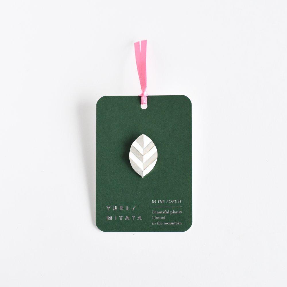 【Brooch】Leaf / Stripe S silver - ¥6,264