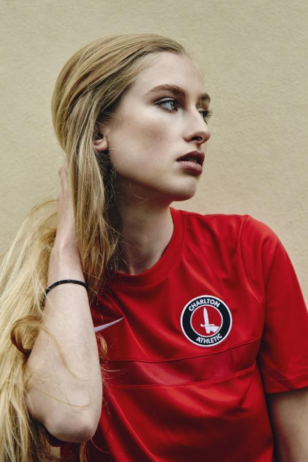 Zoe: Nike Charlton FC training jersey