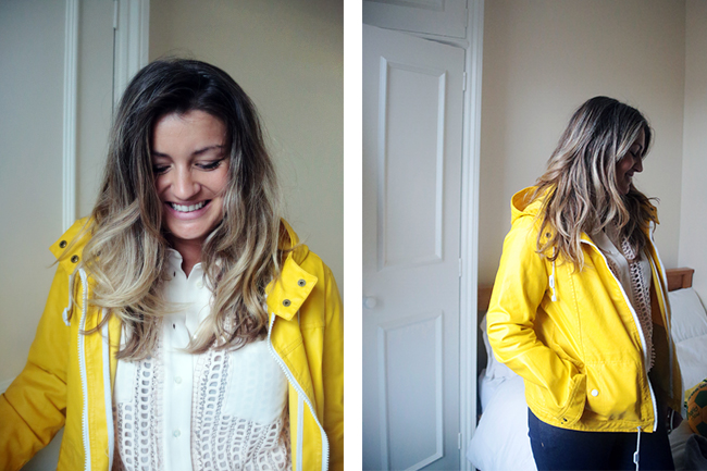 I have a bright yellow hooded jacket that seems lucky so I bring out for important games. It's Aubin & Wills and there's a lot of history in it. I got it when I worked at Net-a-Porter.