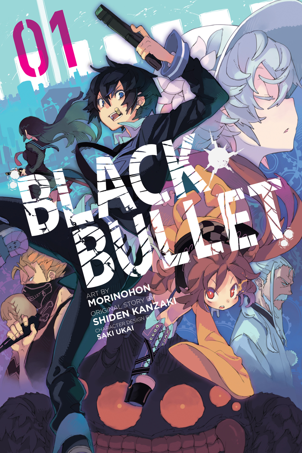 BLACK BULLET by Morinohon (art), Shiden Kanzaki (story), and Saki Ukai (design)