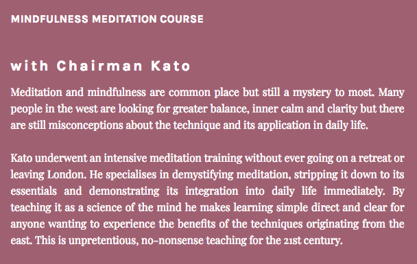 21st Century Meditation and Mindfulness for busy people. - 26th September - 17th October.