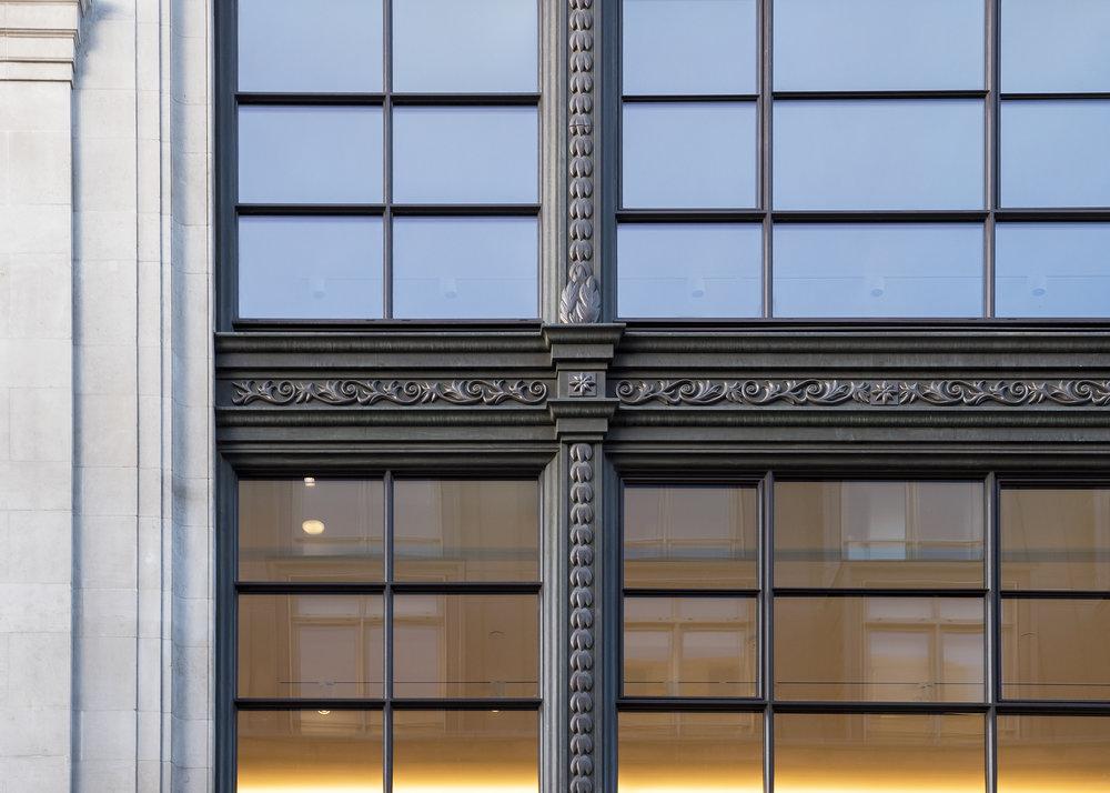 103-109 Wardour Street Facade Detail -Copyright © Alex Upton