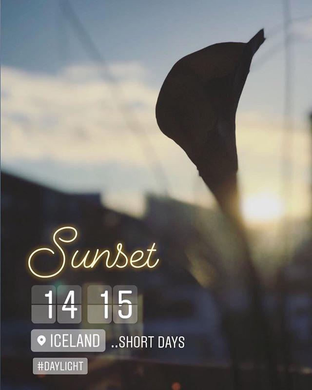 Winter days are short  #daylight #nordiclight #iceland #sunset #light