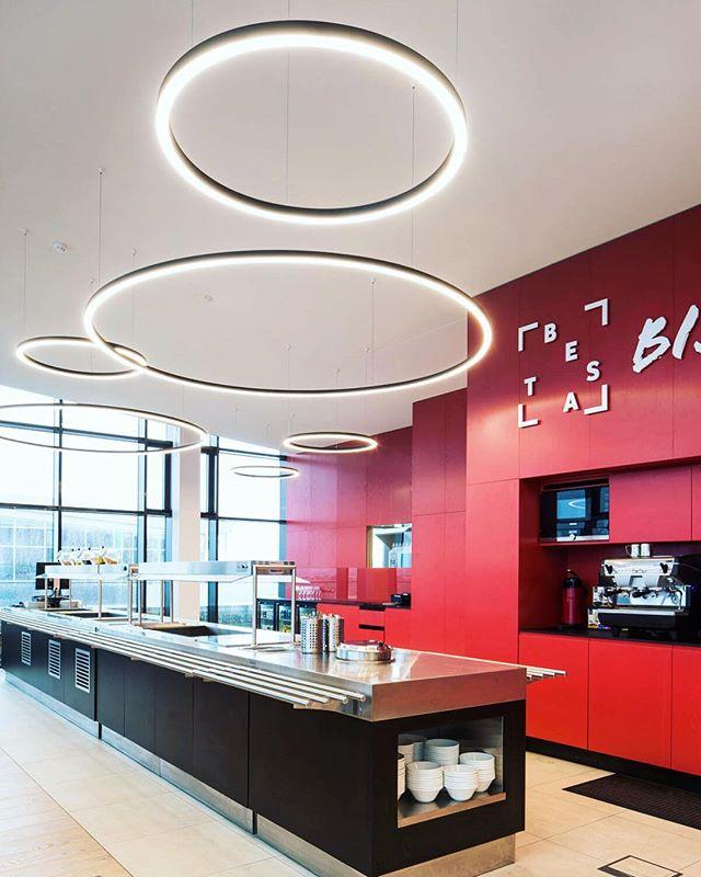 Lighting Design at Vodafone HQ Reykjavík 📷 Yrki #officelighting #light #interiorlighting  #lighting #lightingdesign  Architects: Yrki arkitektar