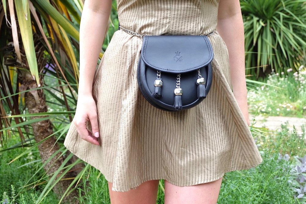 Nixey_1834_Black_Leather_Sporran_Bag