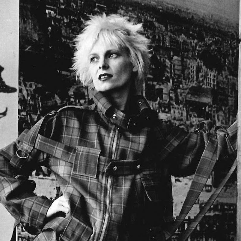 Vivienne Westwood, photographed at her shop on Kings Road, circa 1970s. Photo by Robin Laurance.