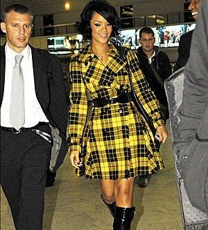 Rihanna in Jean Paul Gautier, from Pinterest