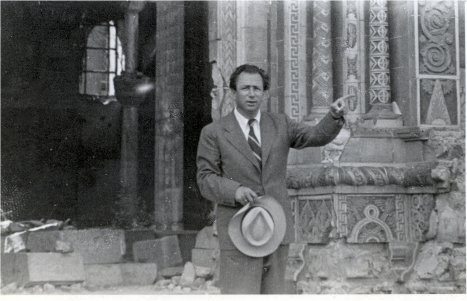 At his destroyed synagogue '49.jpg