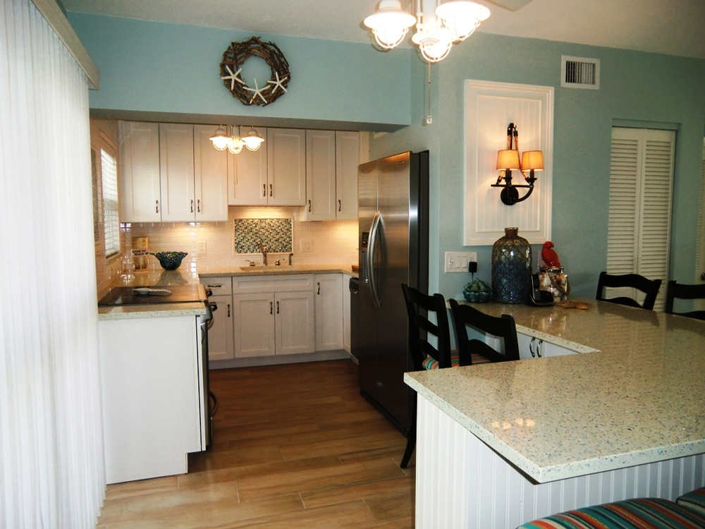 Elegant Beach Cottage Kitchen Remodeling Parkland Fort Lauderdale Broward