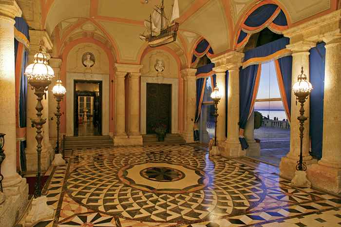interior of Loggia at Vizcaya